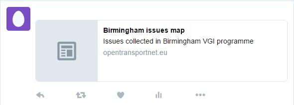 Map tweet